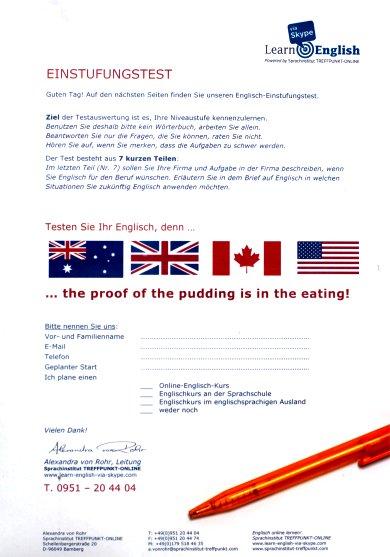 Einstufungstest Englisch