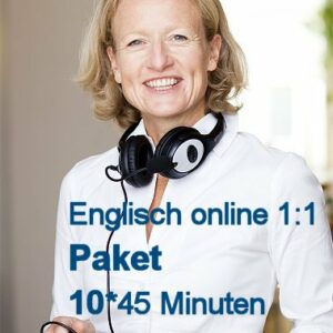 Englisch Einzelunterricht Online | Paket mit 10 U-Stunden