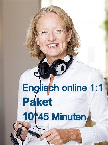 Englisch Einzelunterricht Online   Paket mit 10 U-Stunden