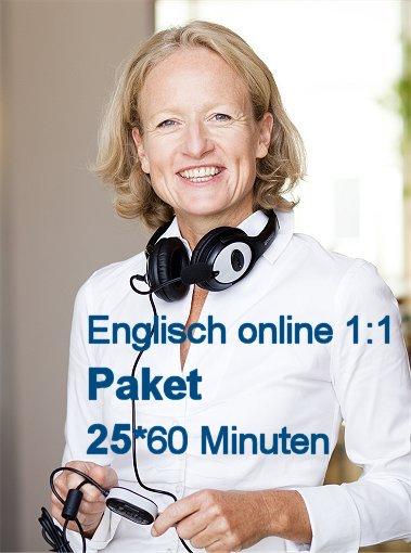 Englisch Einzelunterricht Online   Paket mit 25 Zeit-Stunden