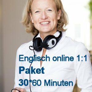 Englisch Einzelunterricht Online | Paket mit 30 Zeit-Stunden