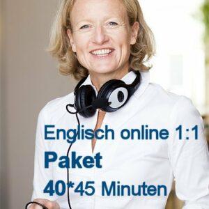 Englisch Online Einzelunterricht Paket mit 40 U-Stunden