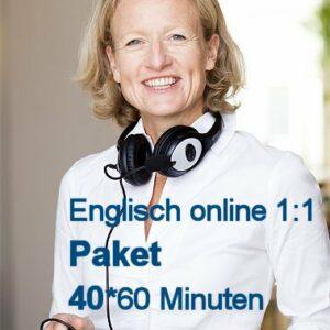Englisch Online Einzelunterricht Paket mit 40 Zeit-Stunden