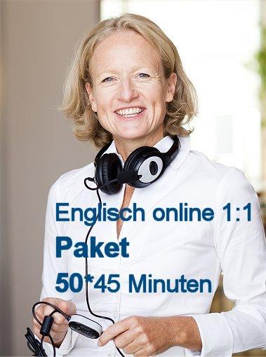 Englisch Online Einzelunterricht Paket mit 50 U-Stunden