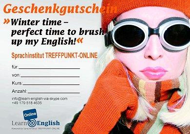 Geschenkgutschein Englischkurs Online